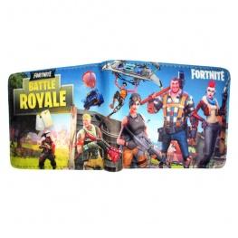 Fortnite Battle Royale pénztárca (érmetartóval) - csatatér színben