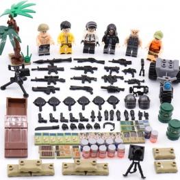 PUBG minifigura osztag, rengeteg fegyverrel és kiegészítővel