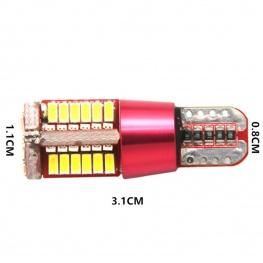 T10 szuper fényes 4014 SMD LED - Műszerfal és helyzetjelző világításhoz - rózsaszín fényű